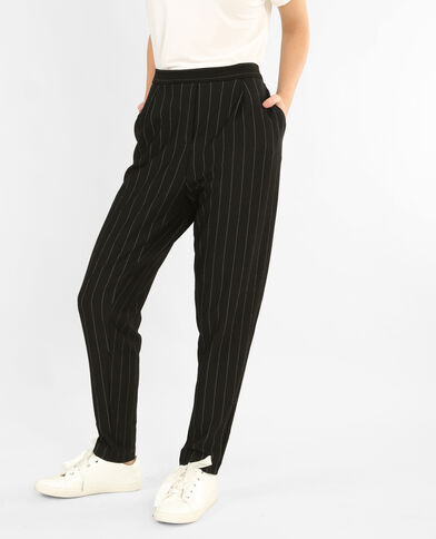 Pantalon à rayures noir