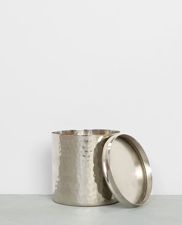Pot métallique à couvercle gris