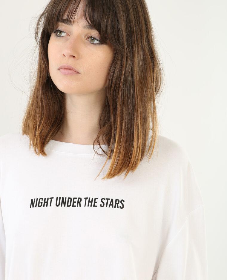 T-shirt ample à message blanc