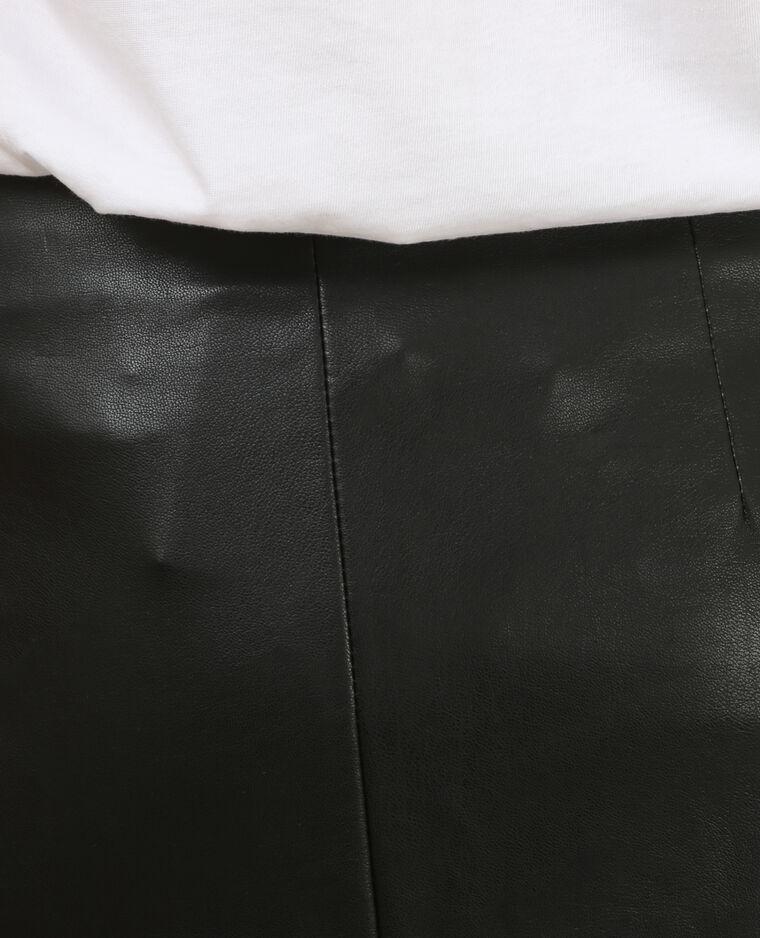 Jupe biker zippée noir