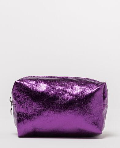 Trousse de maquillage violet