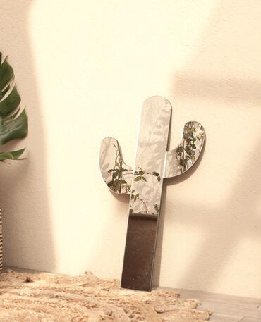 Miroir cactus gris