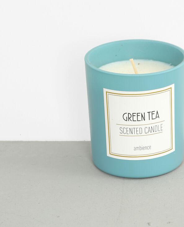 """Bougie parfumée """"Green tea"""" bleu délavé"""
