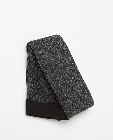 Collants lurex noir