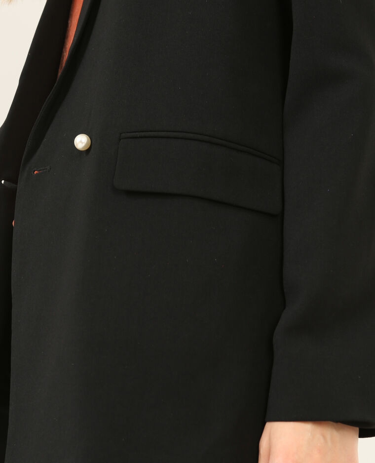 Blazer perlé noir