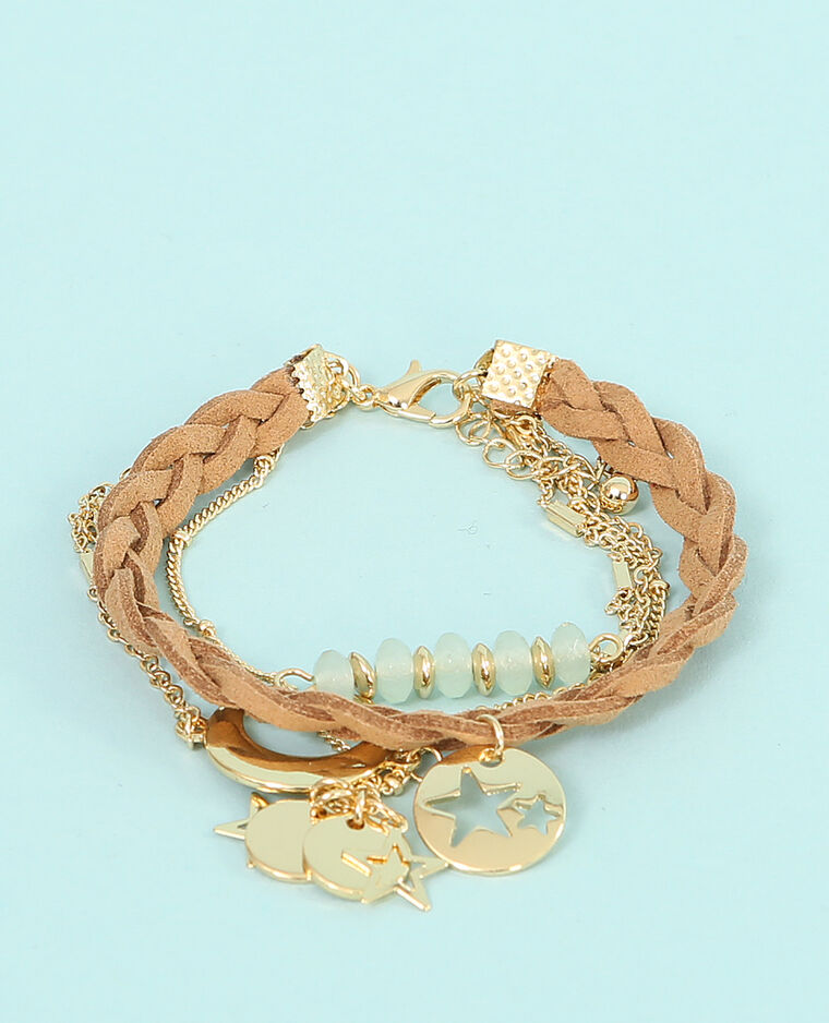 Bracelet multi chaînes doré