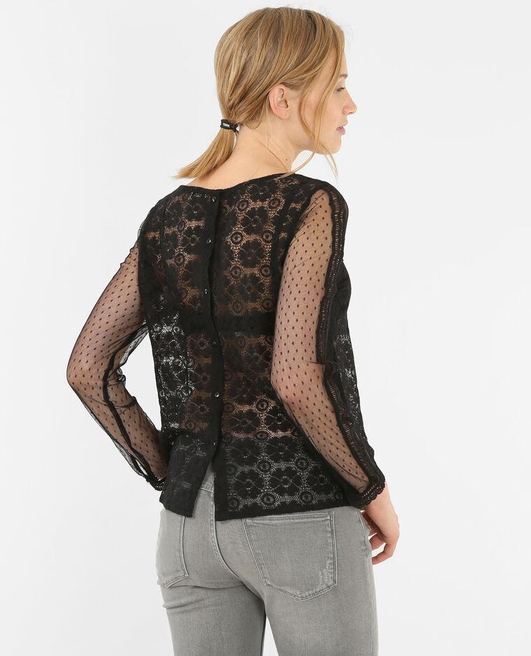 blouse dentelle noir 473018899a08 pimkie. Black Bedroom Furniture Sets. Home Design Ideas