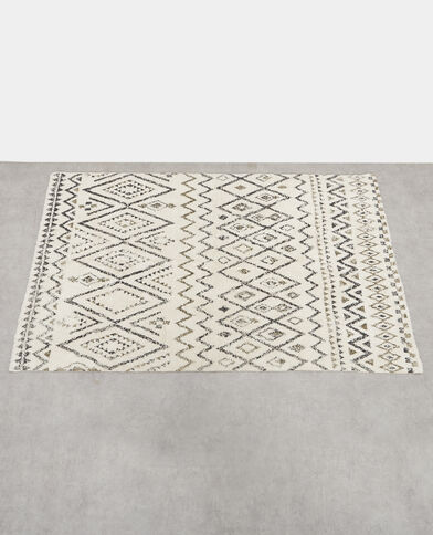 Grand tapis berbère blanc cassé