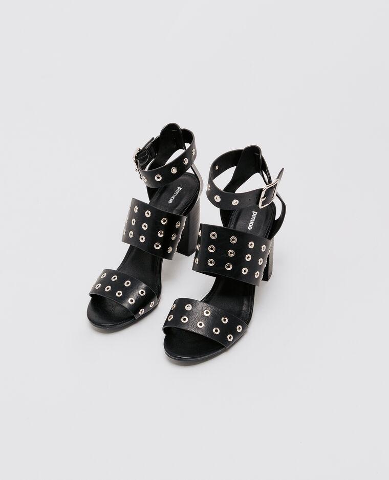 Sandales à œillets noir