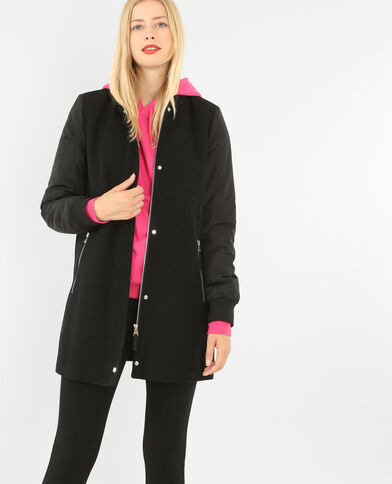 Manteau esprit teddy noir