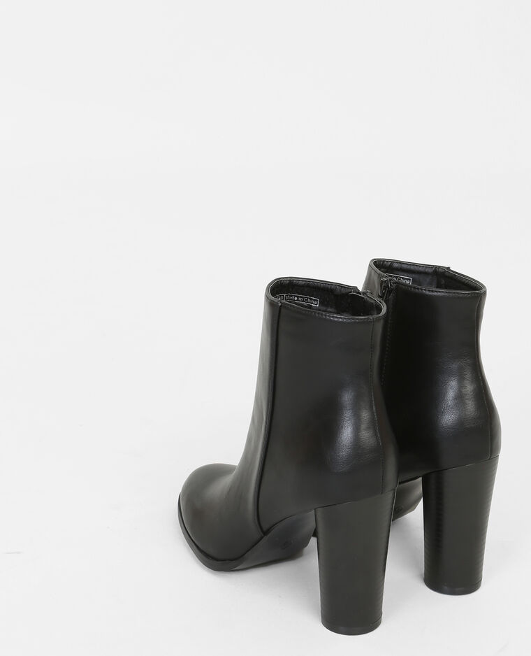 boots talon rond noir 986128899a08 pimkie. Black Bedroom Furniture Sets. Home Design Ideas