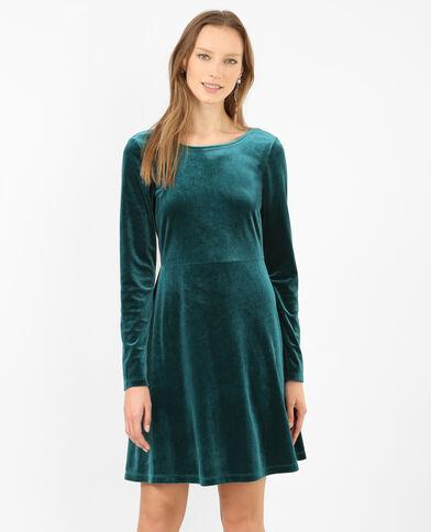Robe velours vert