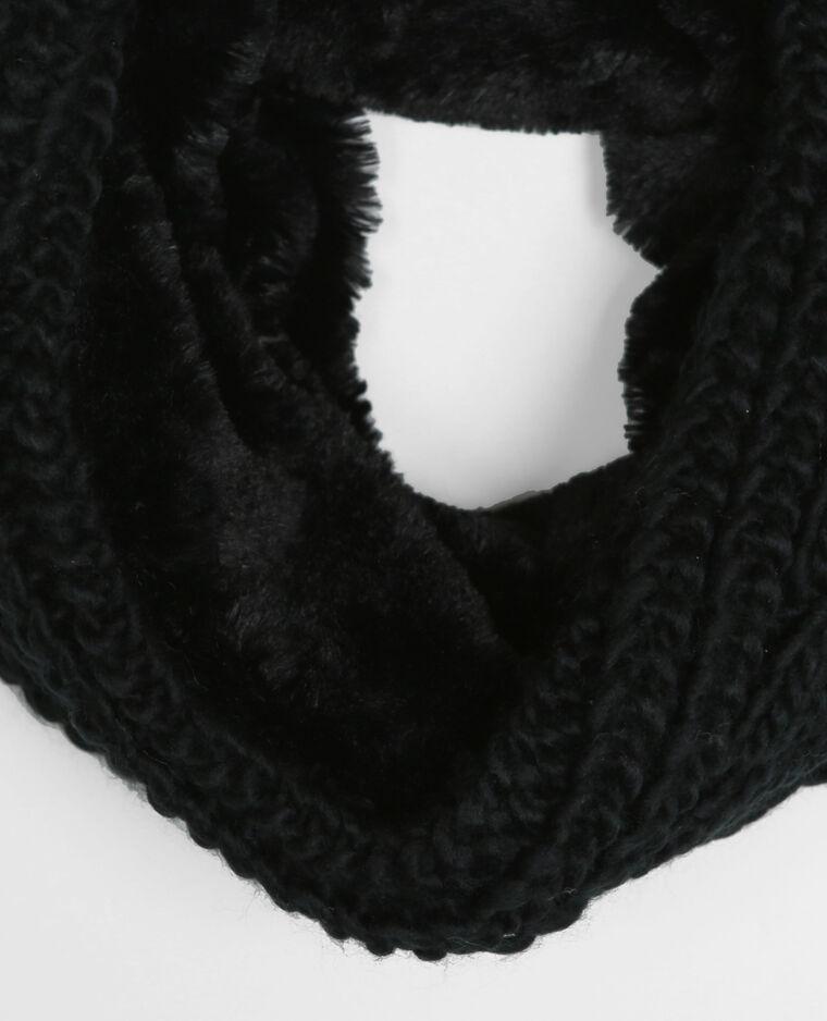Snood torsadé noir