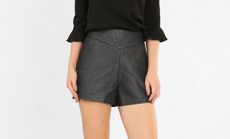 Short taillle haute noir