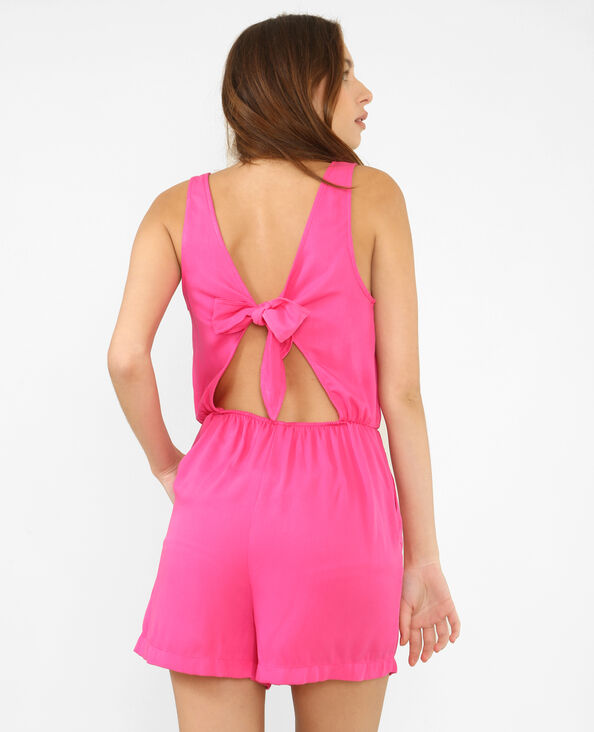 Combishort dos ouvert rose