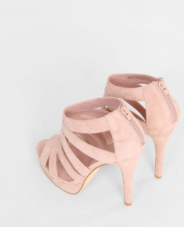 sandales talon multibrides rose poudr 988095270a02 pimkie. Black Bedroom Furniture Sets. Home Design Ideas
