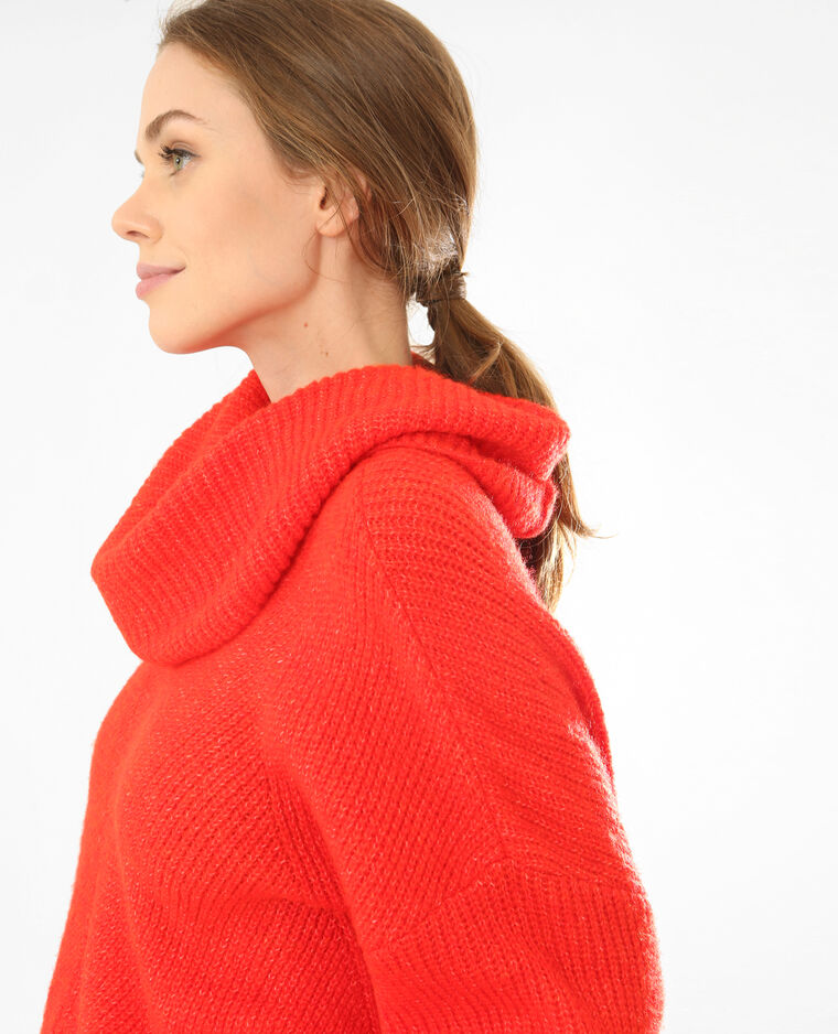 Pull oversize rouge
