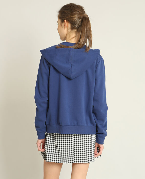 Sweat zippé bleu foncé