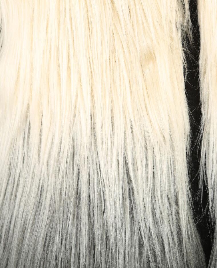 Gilet fausse fourrure blanc cassé