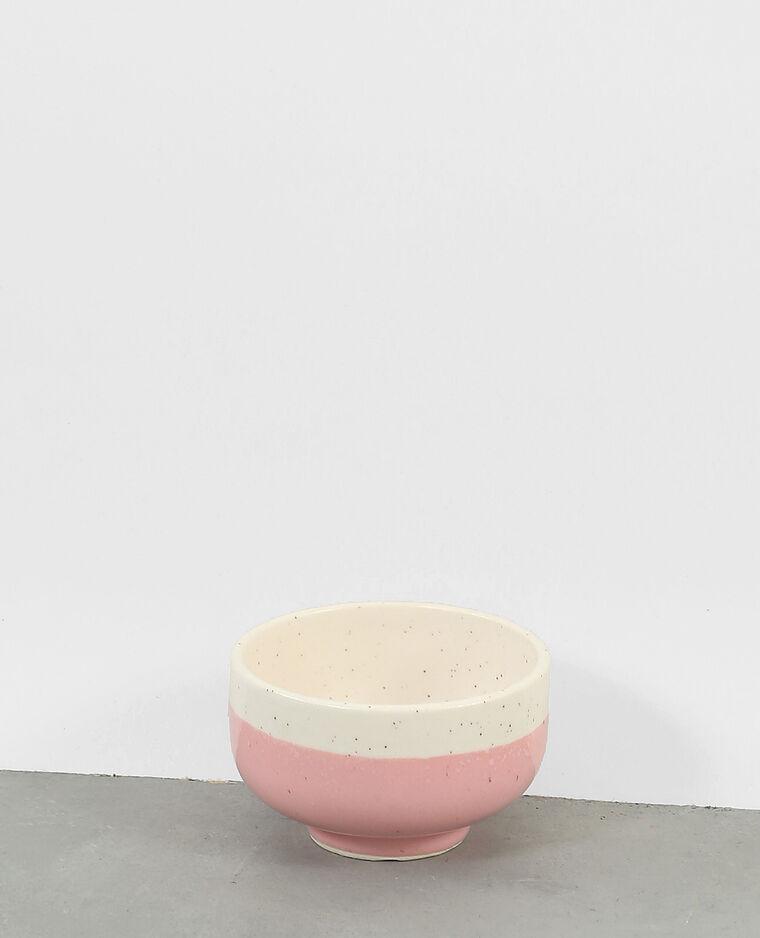Bol céramique moucheté rose