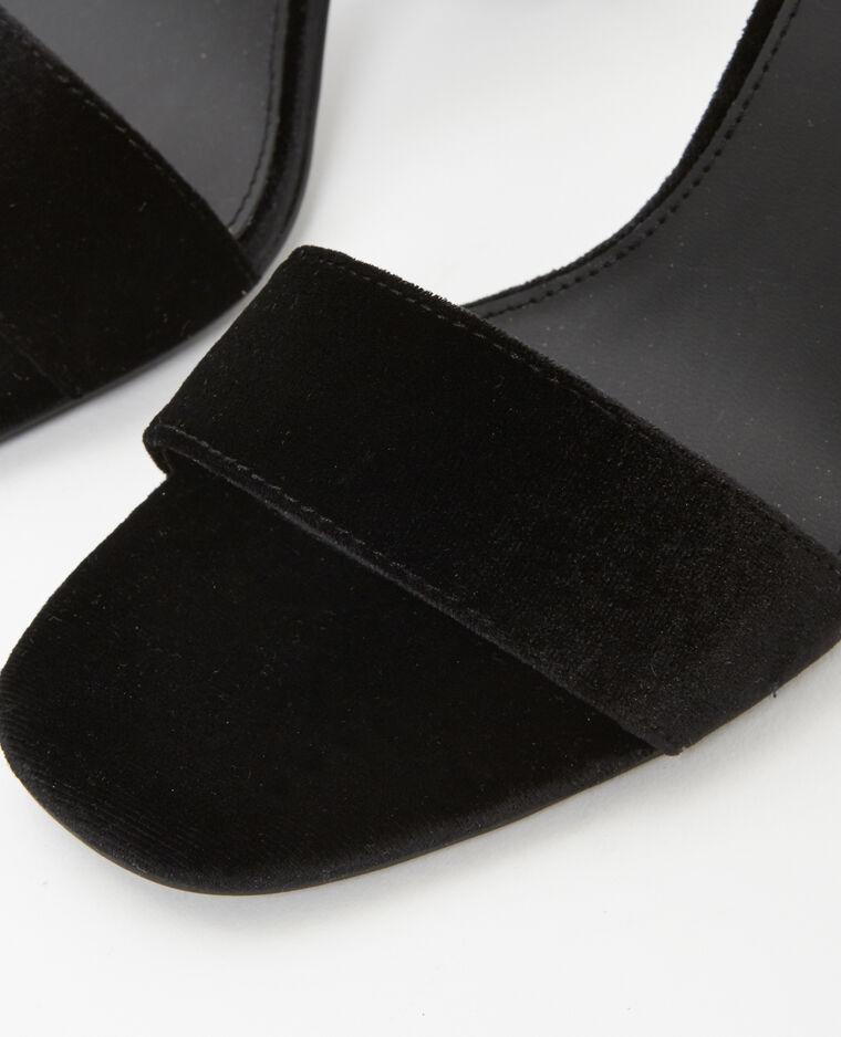 Sandales à perles noir