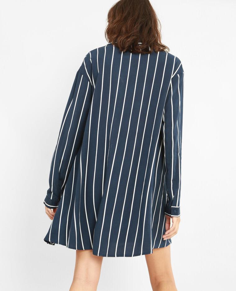 robe chemise ray e bleu marine 780775635c69 pimkie. Black Bedroom Furniture Sets. Home Design Ideas