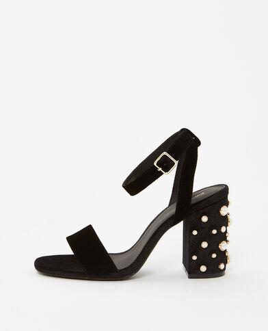 Escarpins à perles noir