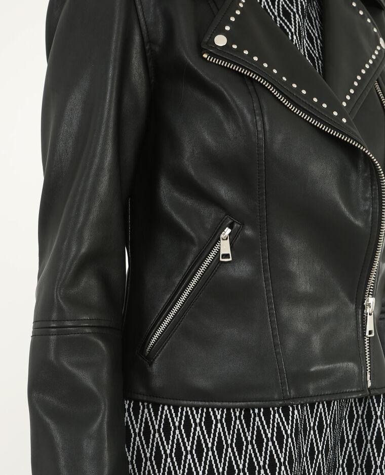 Veste biker cloutée noir