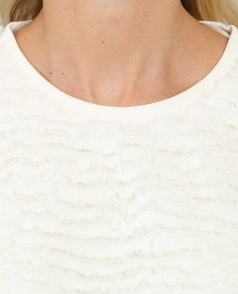 Pull duveteux blanc cassé