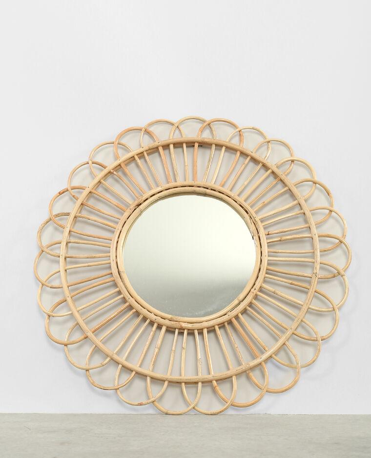 miroir rond en rotin beige taupe 904073742a07 pimkie. Black Bedroom Furniture Sets. Home Design Ideas