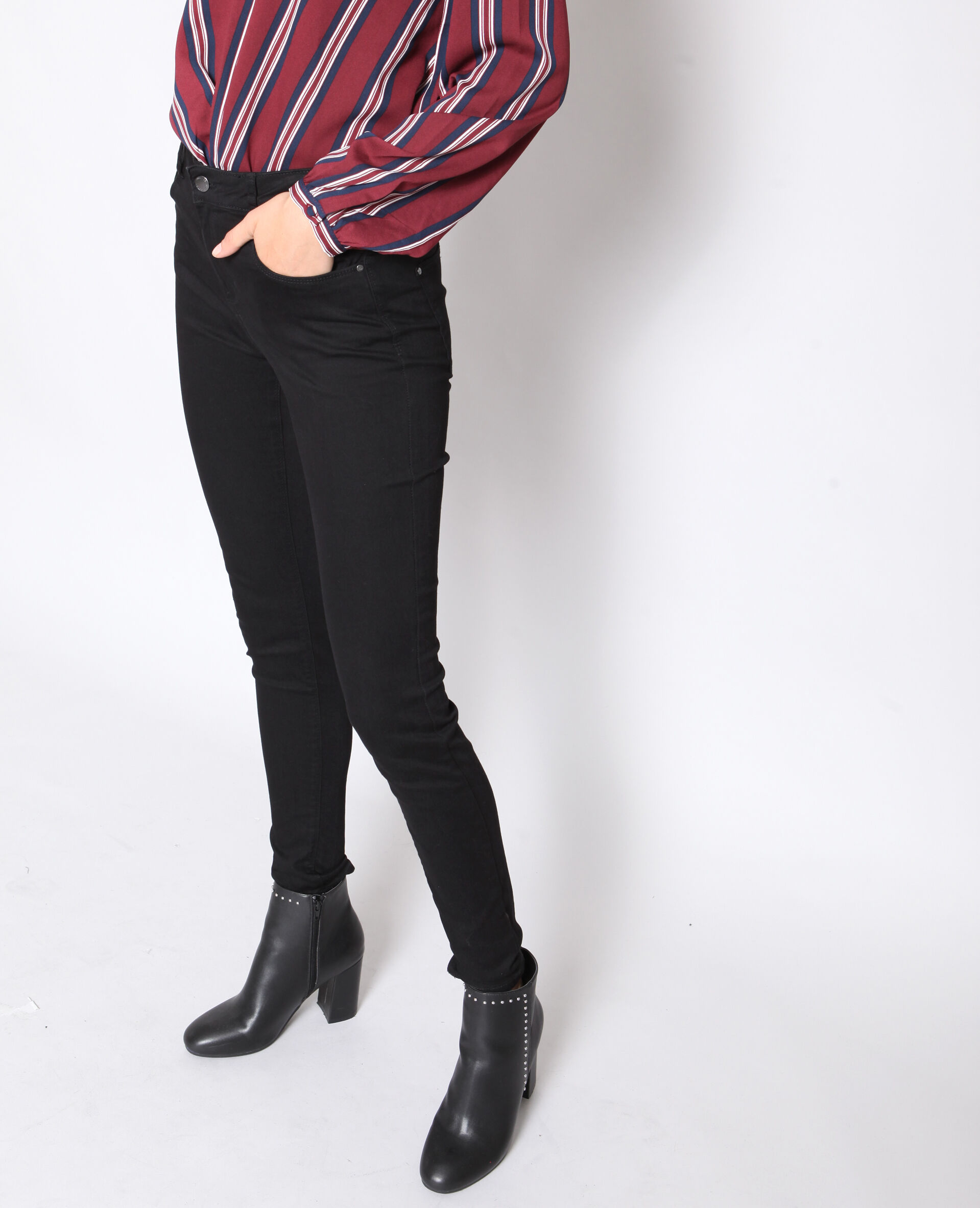 ✅Jegging basique Femme - Couleur noir - Taille 36 - PIMKIE - MODE FEMME