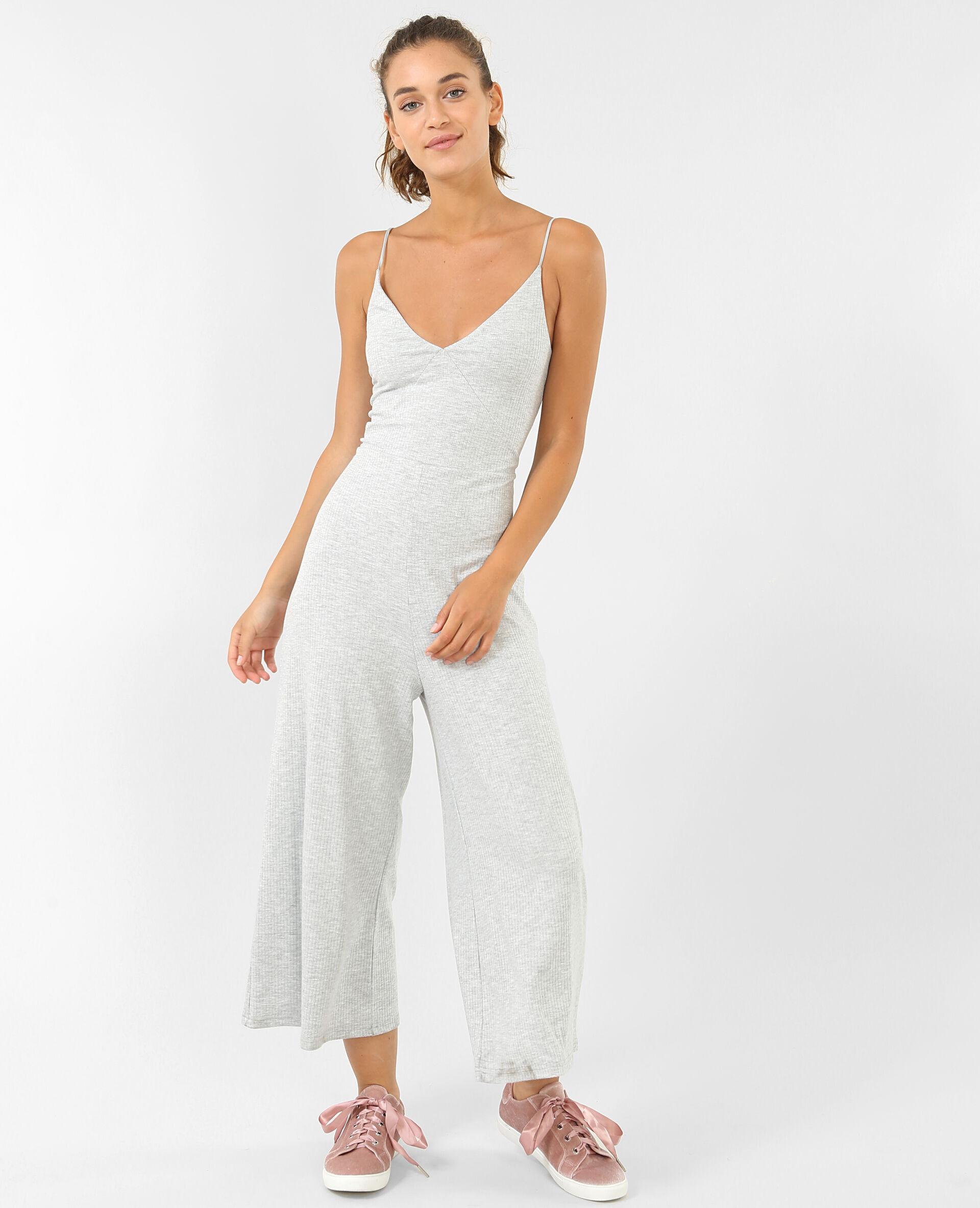 ⏳ Combinaison jupe-culotte Femme -50% - Couleur gris chiné - Taille M - PIMKIE - MODE FEMME