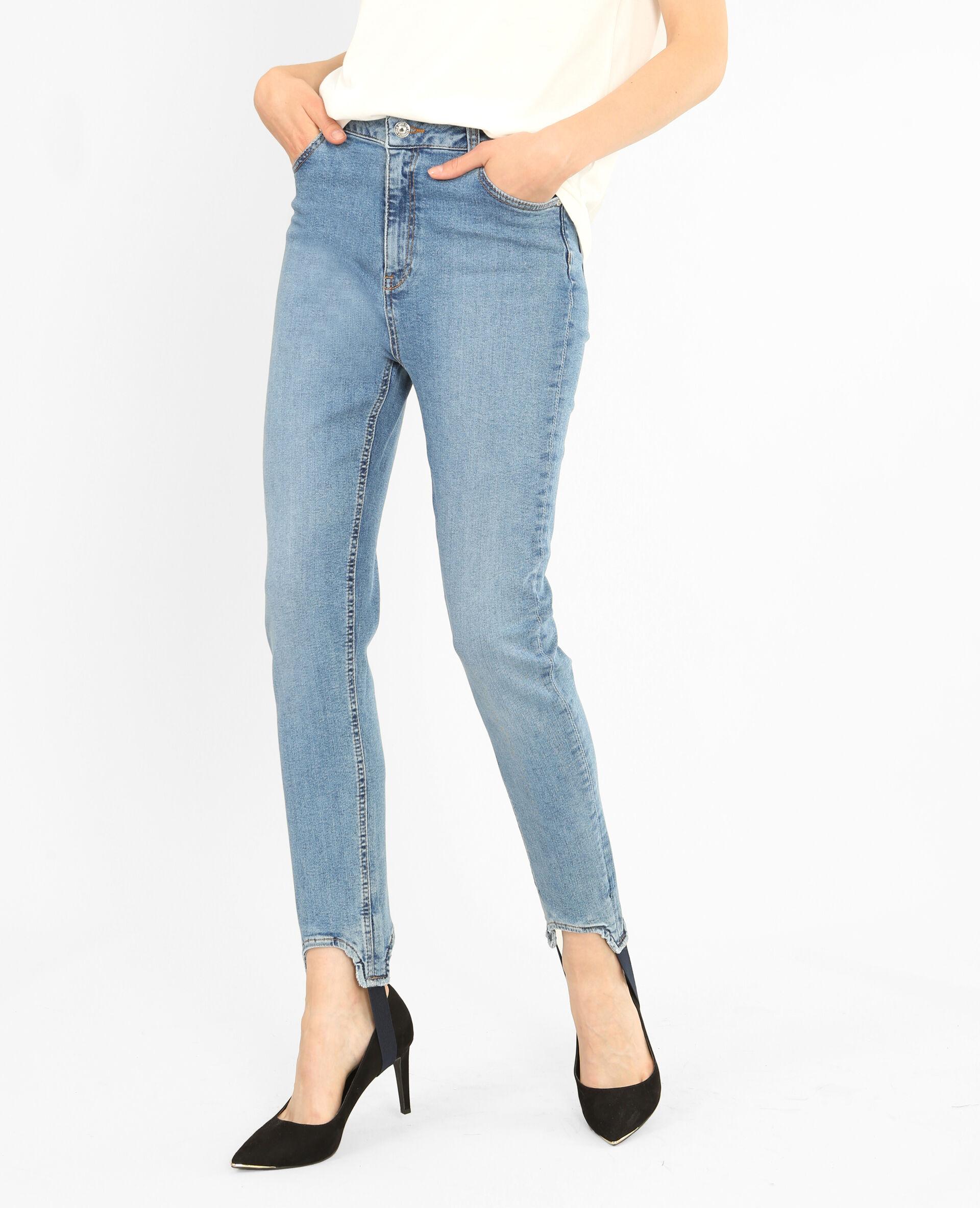 Jean skinny fuseau Femme -40% - Couleur bleu ciel - Taille 38 - PIMKIE - Soldes Hiver 2018