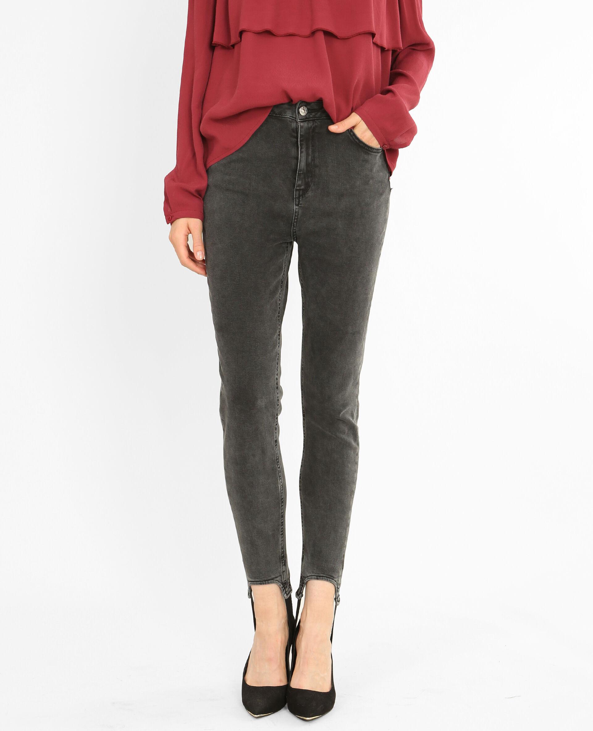 Jean skinny fuseau Femme -40% - Couleur noir - Taille 40 - PIMKIE - Soldes Hiver 2018