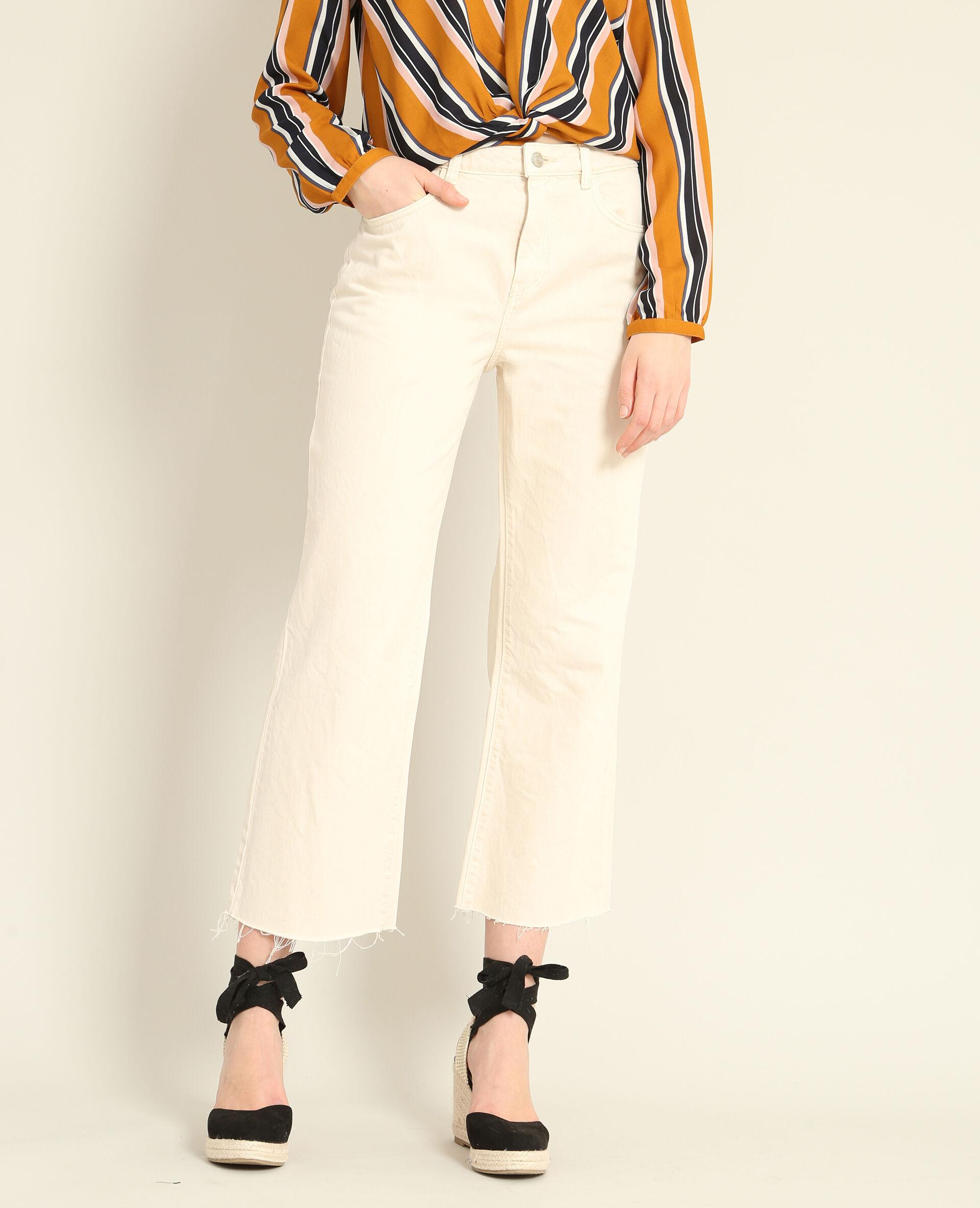 ✅Jupe culotte en jean Femme - Couleur blanc - Taille 40 - PIMKIE - MODE FEMME