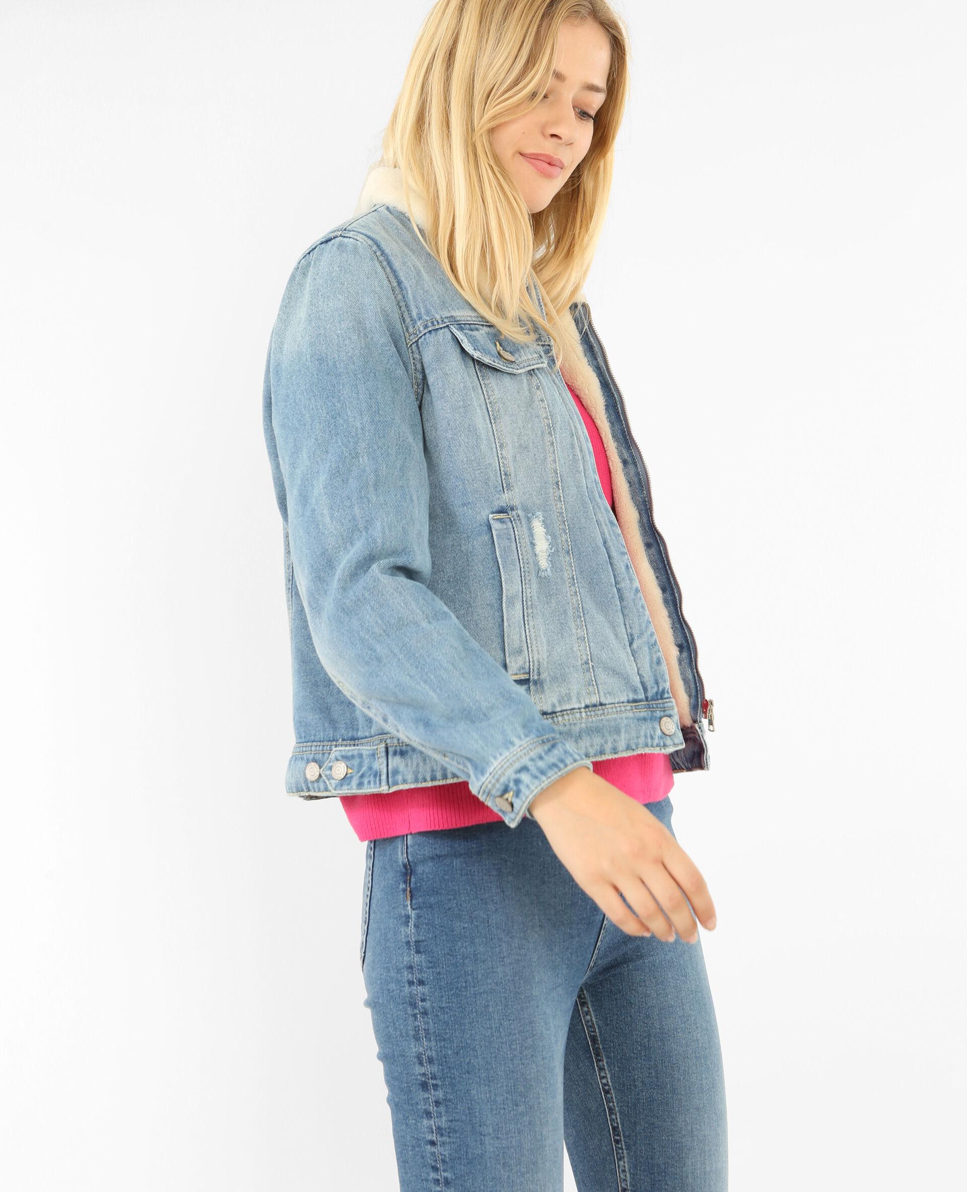 ✅Blouson en jean Femme - Couleur bleu denim - Taille L - PIMKIE - MODE FEMME