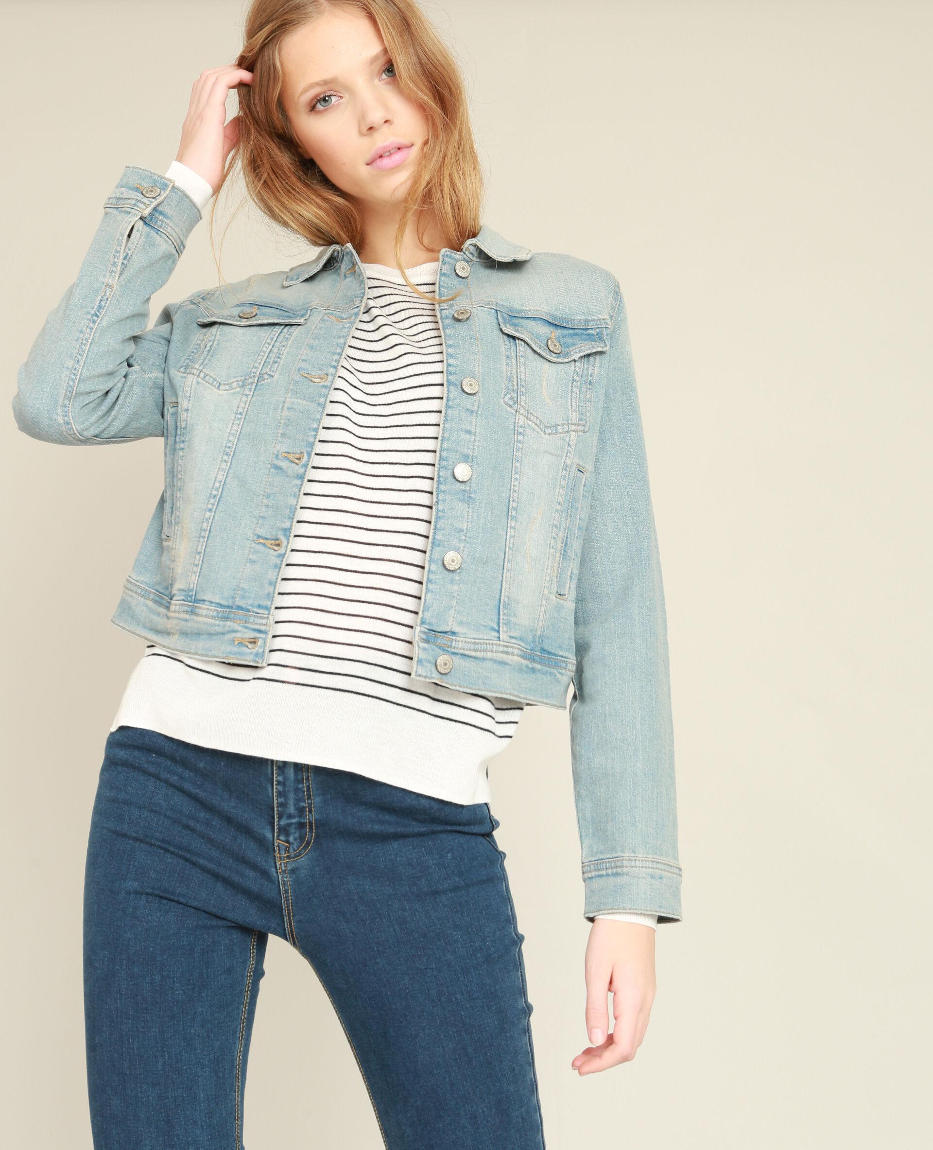 ✅Veste en jean Femme - Couleur bleu - Taille XS - PIMKIE - MODE FEMME