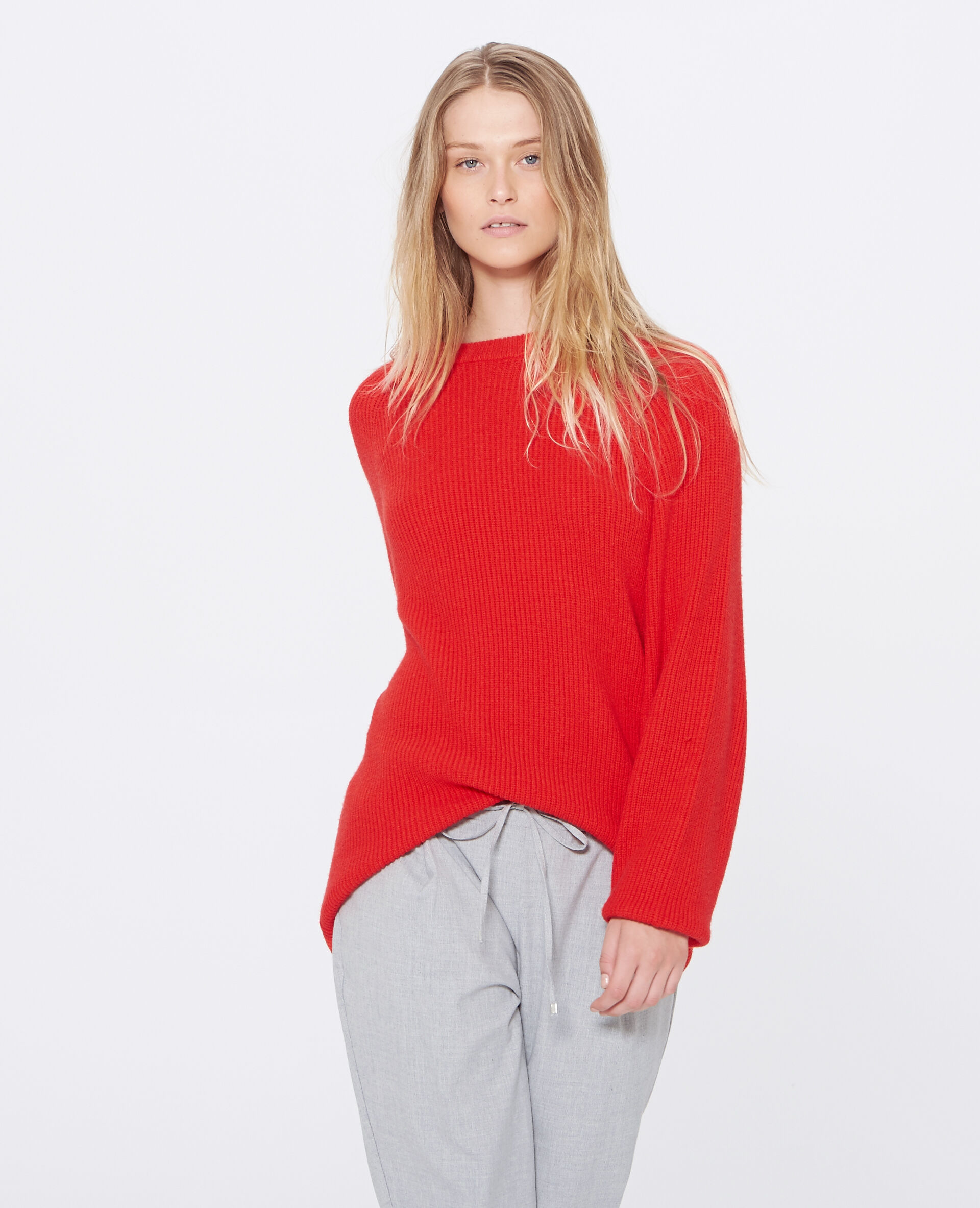 ✅Pull long Femme - Couleur rouge - Taille M - PIMKIE - MODE FEMME