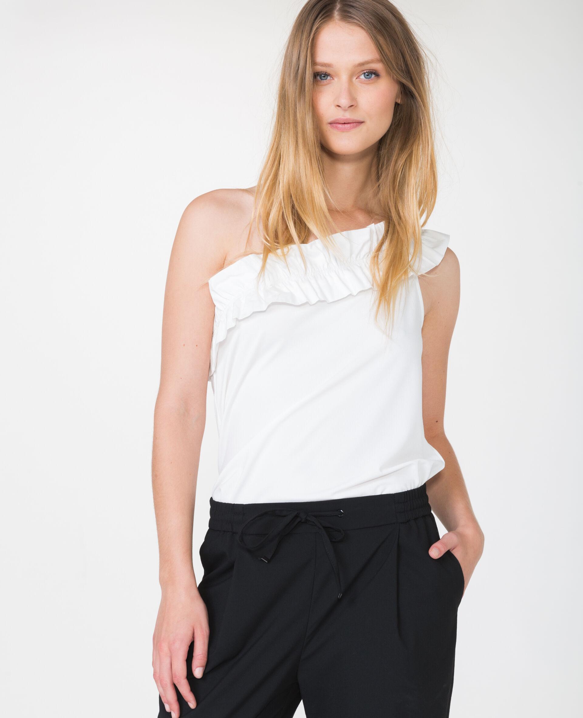 Top asymétrique Femme -40% - Couleur blanc cassé - Taille M - PIMKIE - Soldes Hiver 2018
