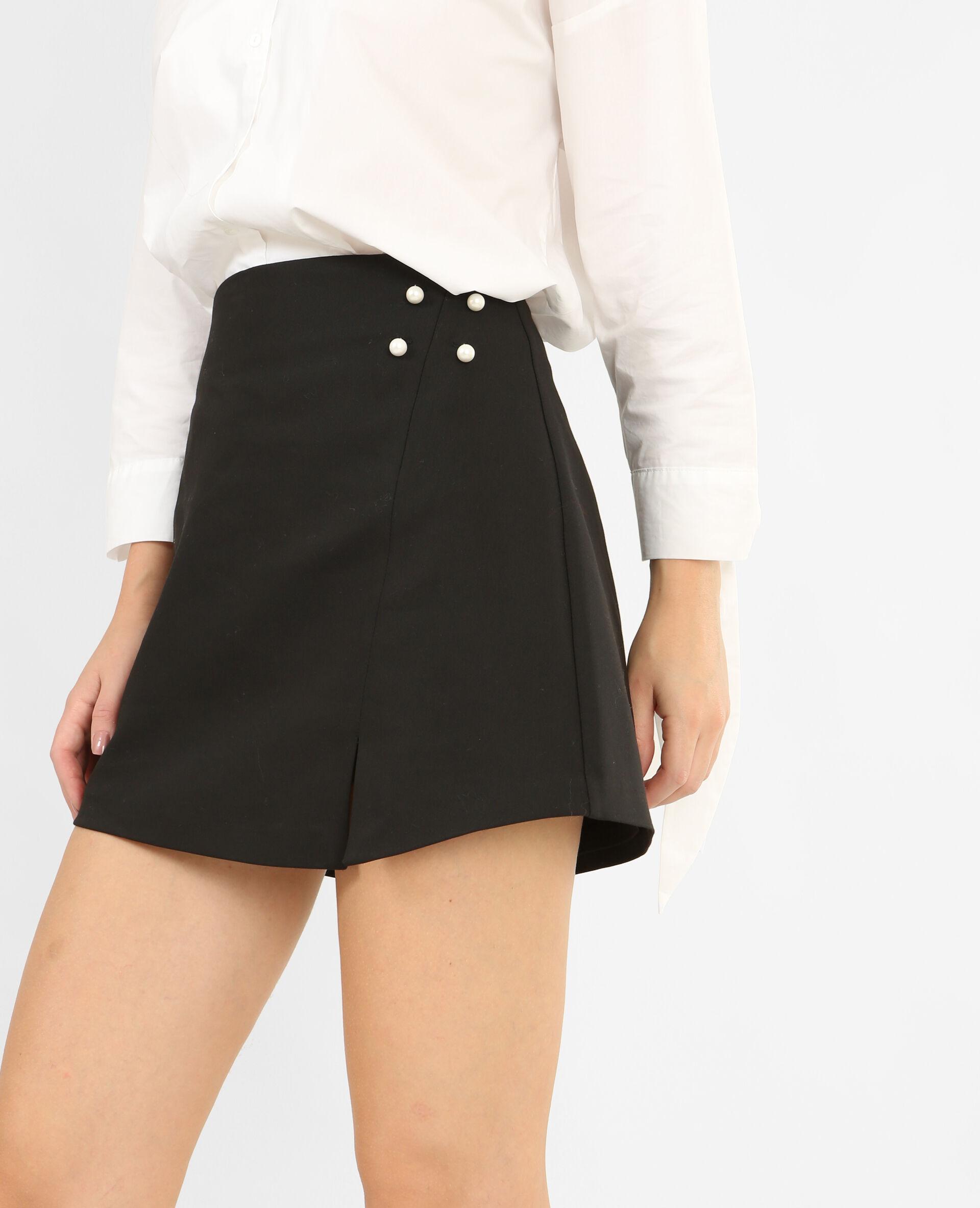 ✅Jupe short à perles Femme - Couleur noir - Taille 38 - PIMKIE - MODE FEMME