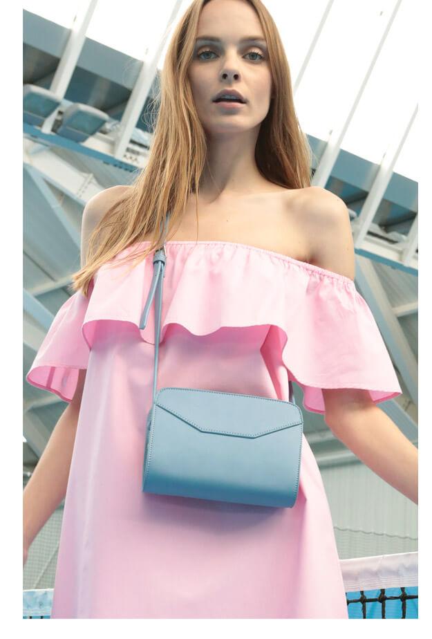 PIMKIE robe pagode pink boxy bag
