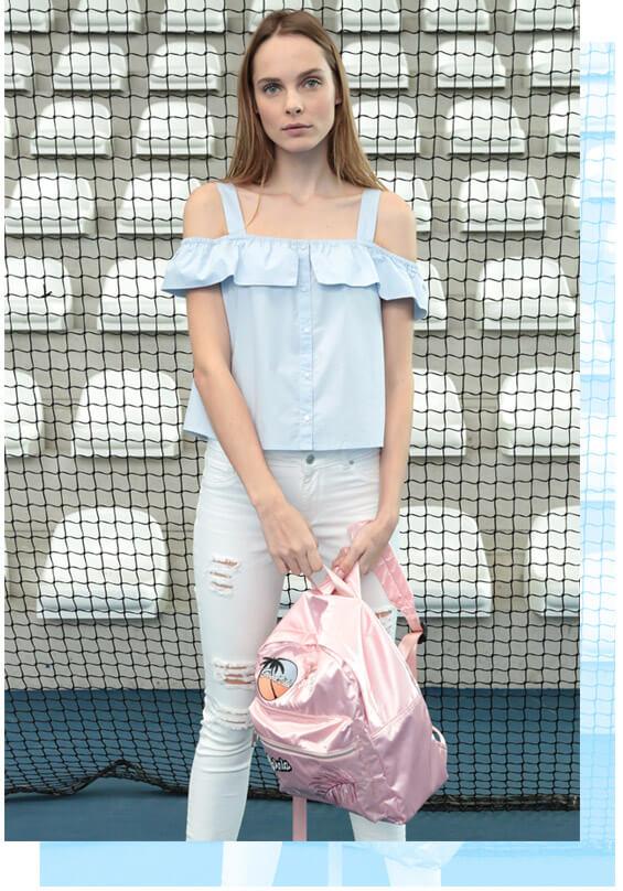 PIMKIE jean dress slip pink