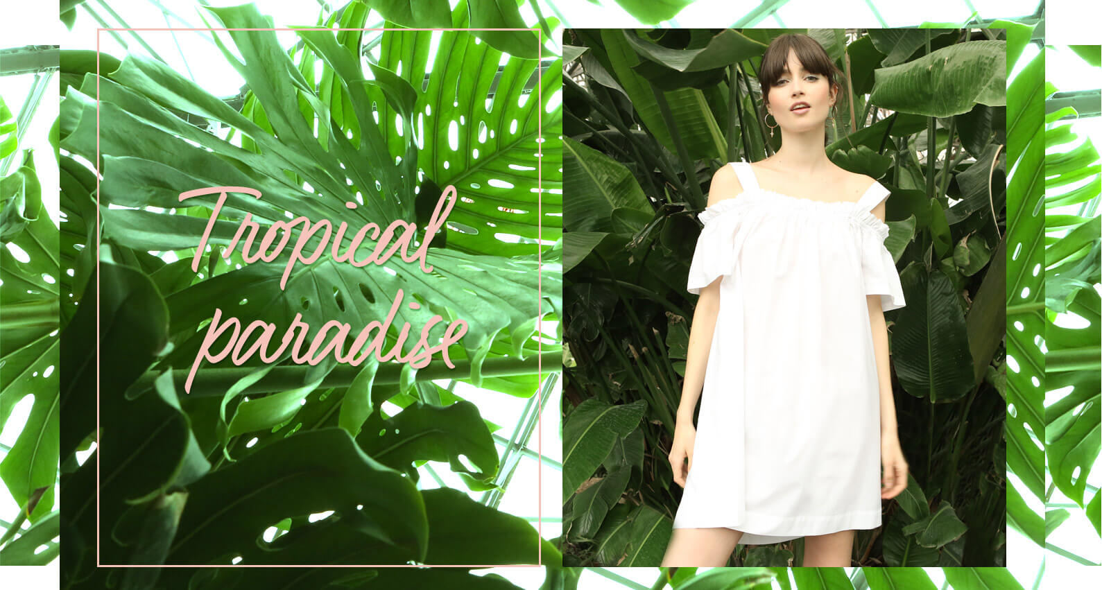 PIMKIE Tropical Paradise white dress