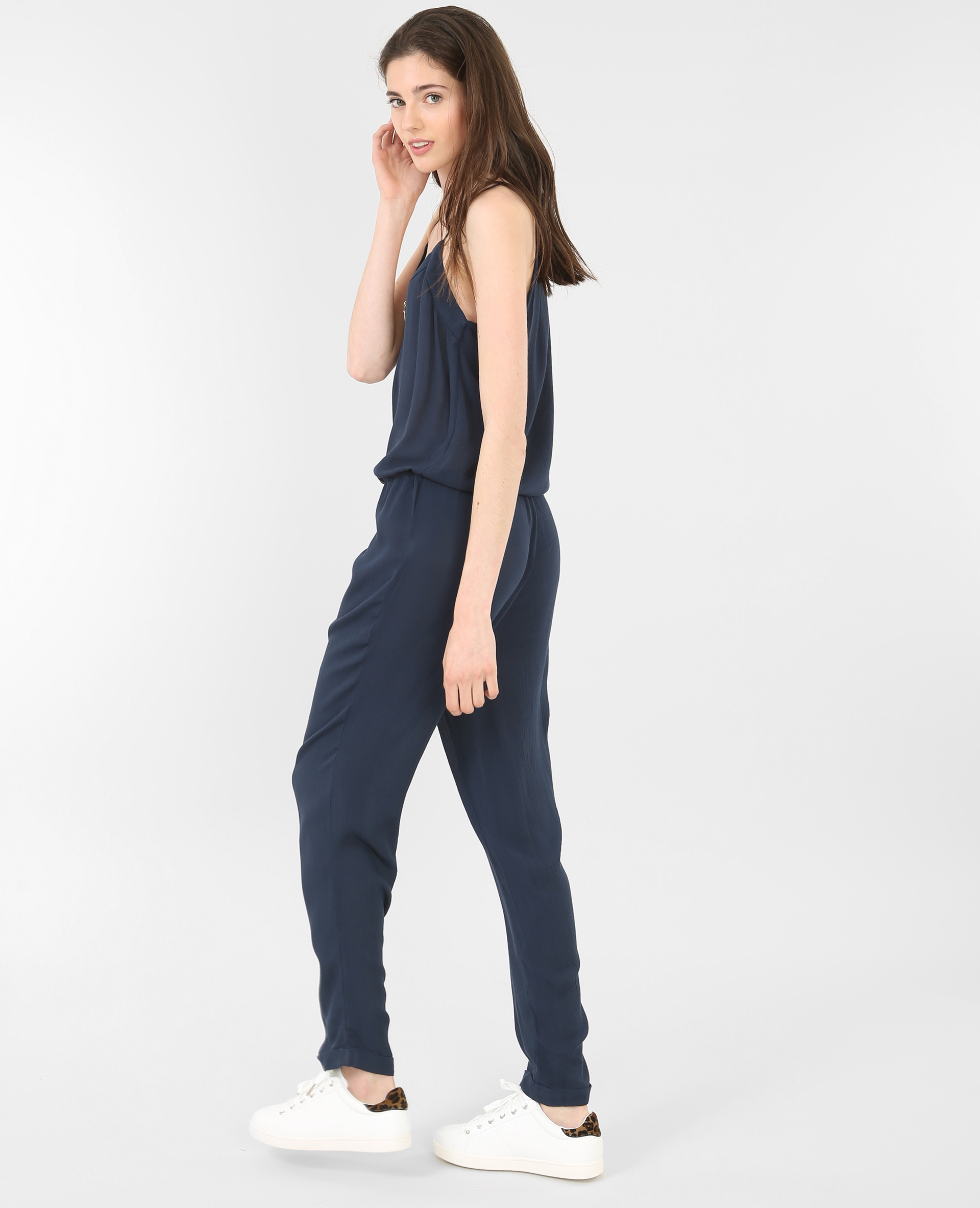 combi pantalon fluide bleu marine 151105635a06 pimkie. Black Bedroom Furniture Sets. Home Design Ideas