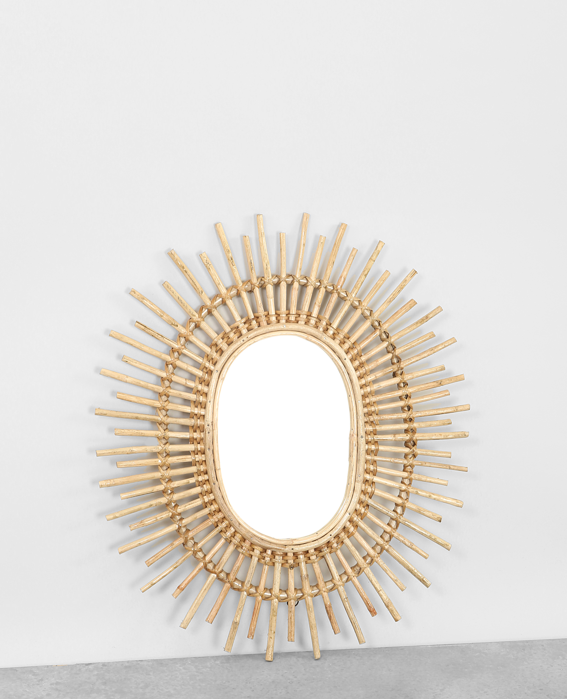 Miroir soleil en rotin beige taupe 902914742a07 pimkie for Miroir en rotin