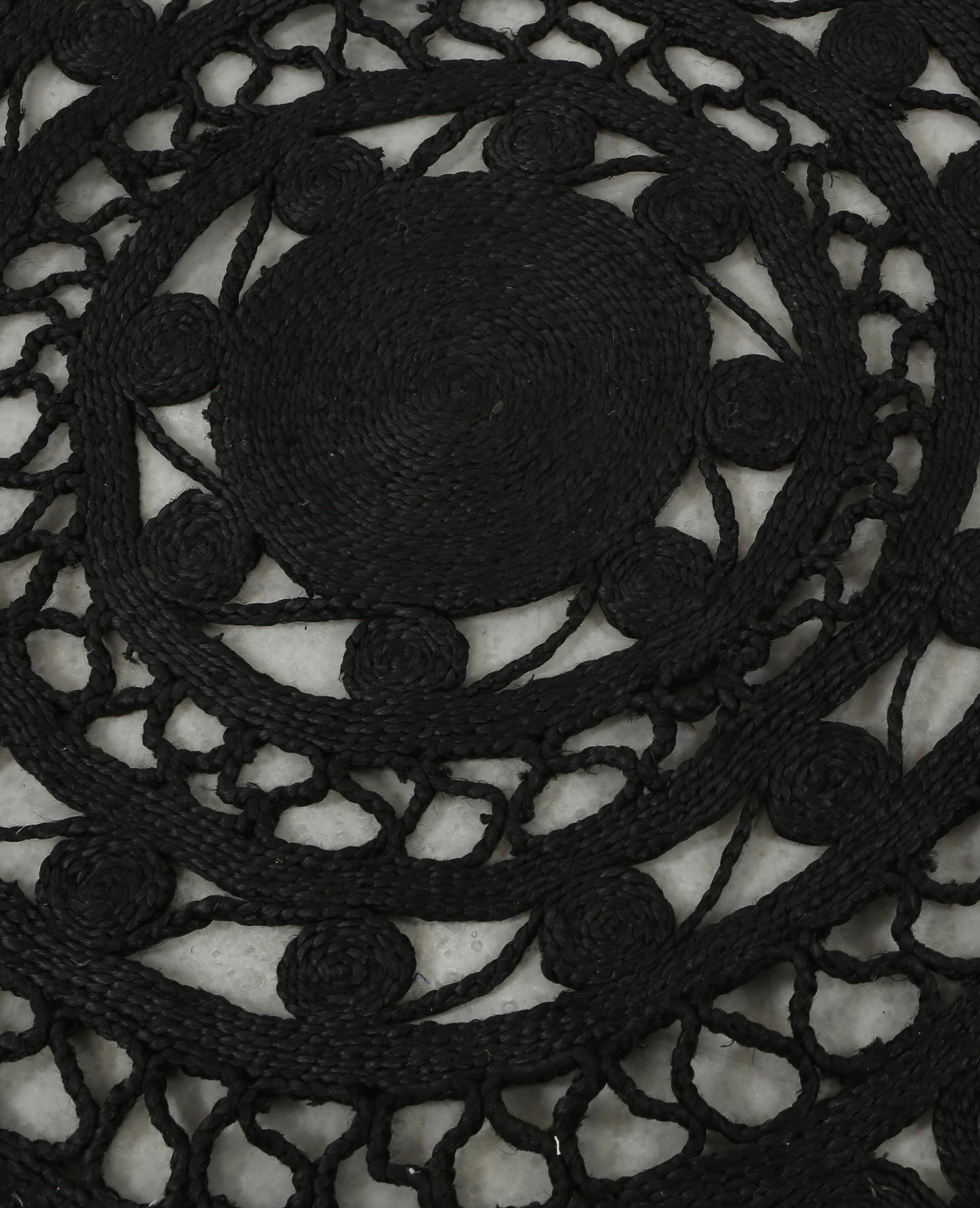 grand tapis mandala noir 50 904022899a07 pimkie. Black Bedroom Furniture Sets. Home Design Ideas