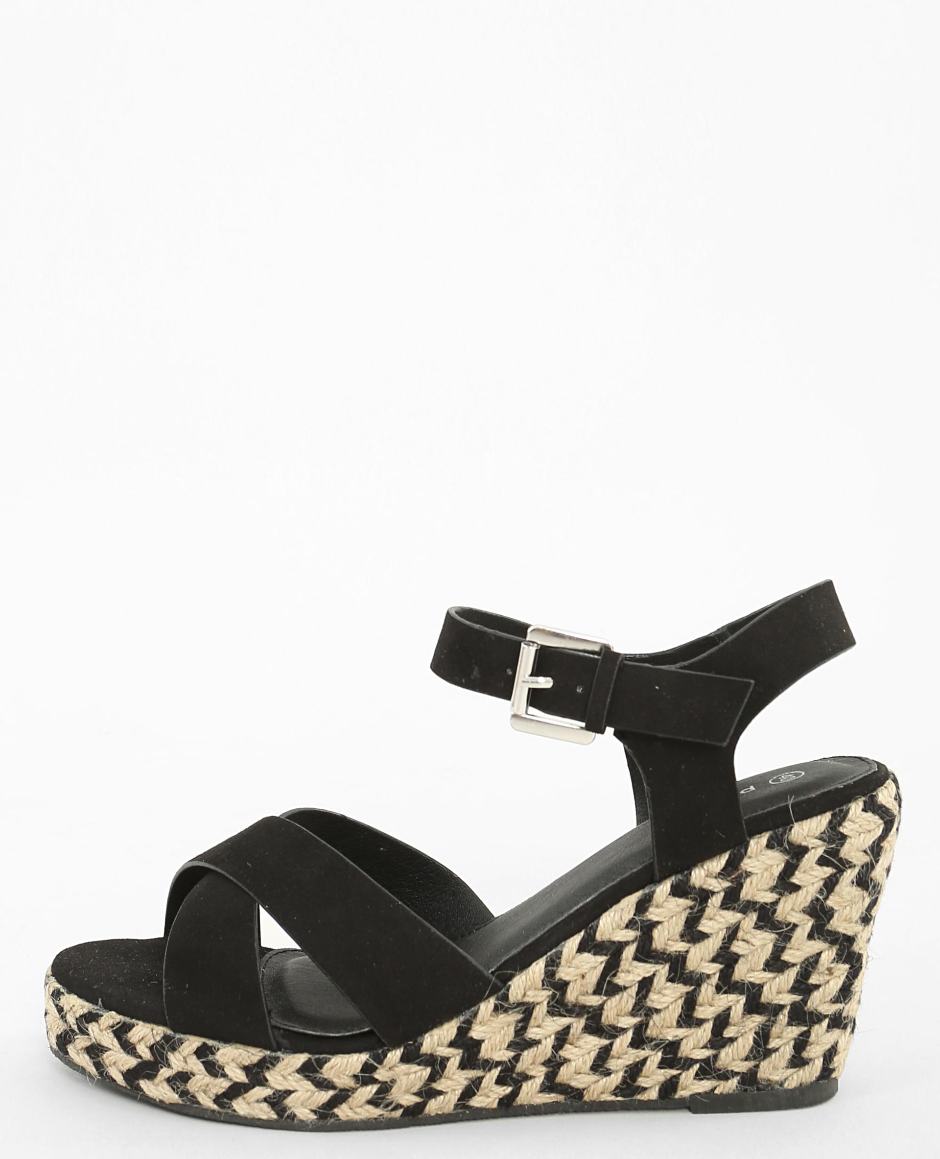 sandales compens es noir 902539899a08 pimkie. Black Bedroom Furniture Sets. Home Design Ideas
