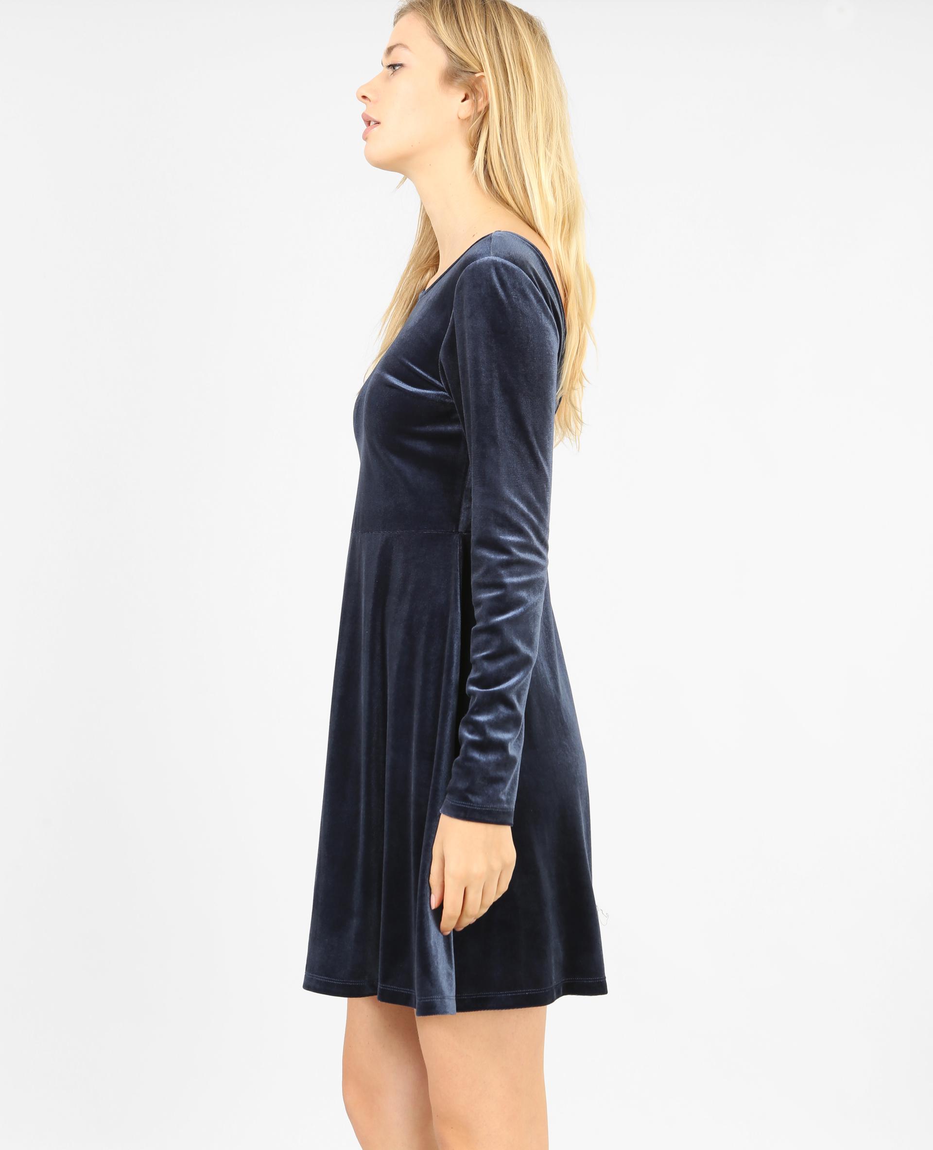 robe velours bleu marine 780798635a06 pimkie. Black Bedroom Furniture Sets. Home Design Ideas