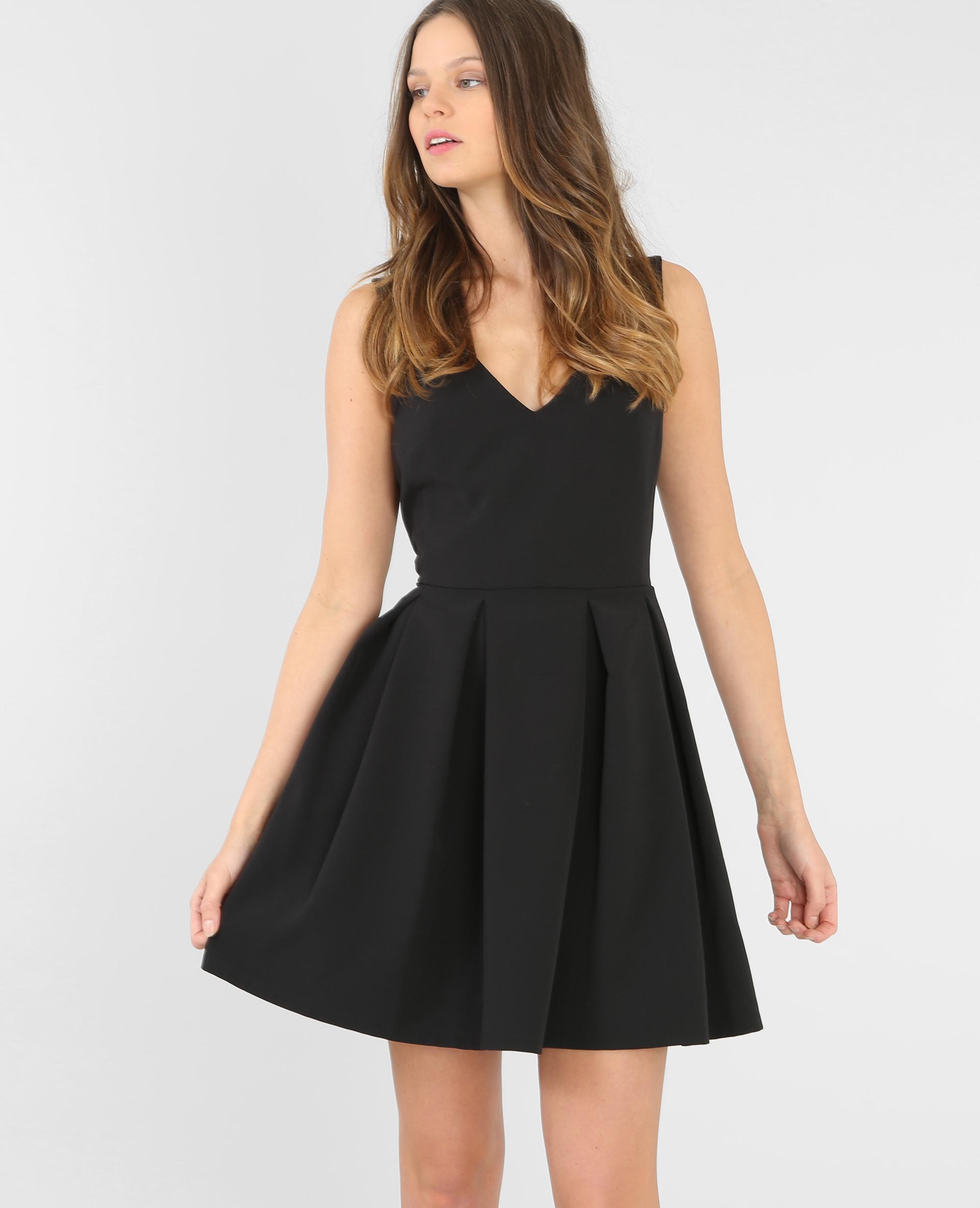 robe d collet v noir 780363899a08 pimkie. Black Bedroom Furniture Sets. Home Design Ideas