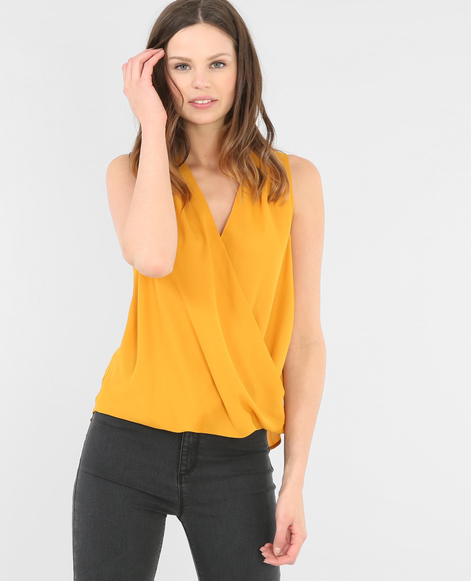 blouse cache coeur jaune 567103003a00 pimkie. Black Bedroom Furniture Sets. Home Design Ideas